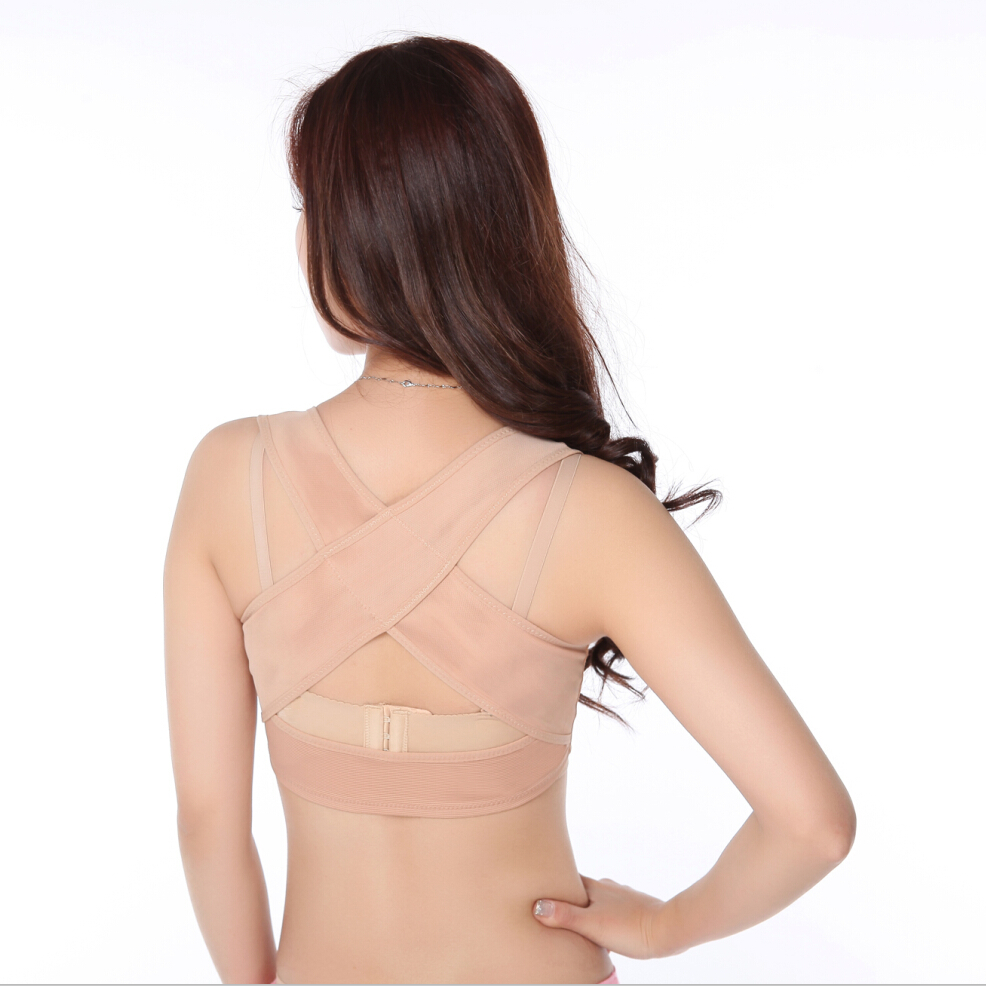 bc08ca19ef568 Chest Brace Up Prevent Humpback Correct Posture Corset Bra X Strap Vest  Personal Posture Corrector With