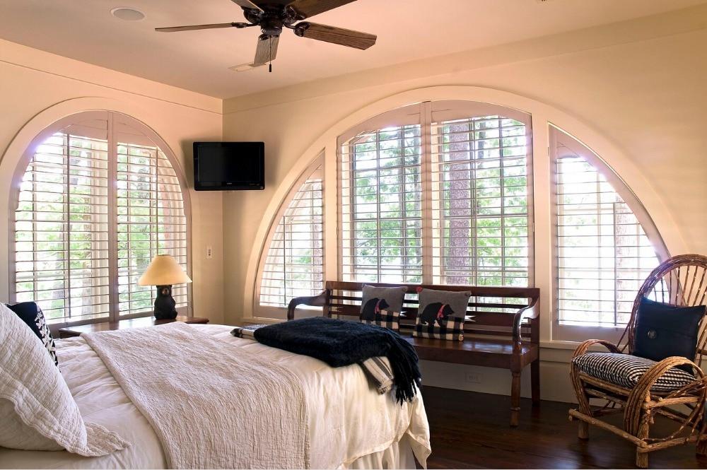 2017 Hot Sales High Durable Sun Shade Wooden Blinds Window Shutters Wood Shutter Slats Louver Wooden Folding Shutters WS1612004