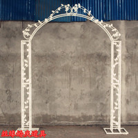 The new arch., wrought iron arch. Wedding props arch.