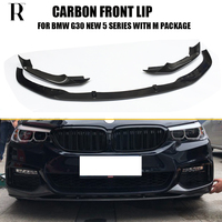 G30 G31 M Performance Style Carbon Fiber Front Bumer Lip Spoiler with Splitter for BMW 520 530 540 550 with M Package 2018 UP