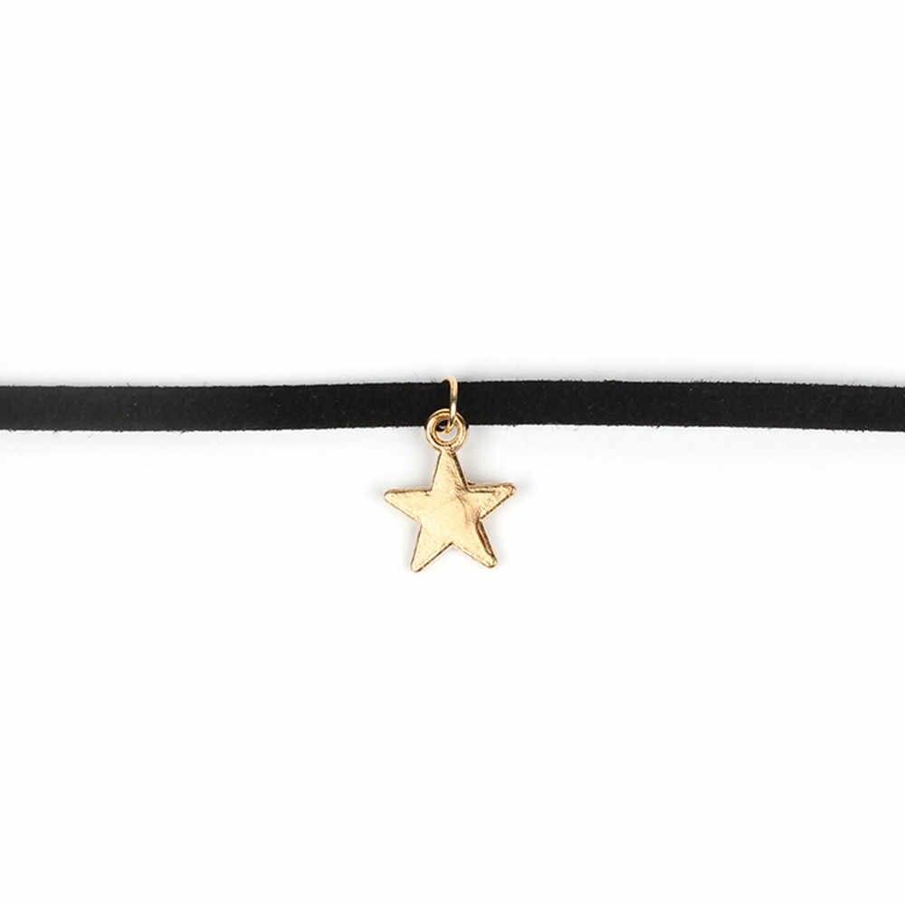 Neue Ankunft 1 stücke Choker Halskette Set Stretch Samt Klassische Gothic Tattoo Spitze Pendientes Choker Halskette Ornamente Anhänger
