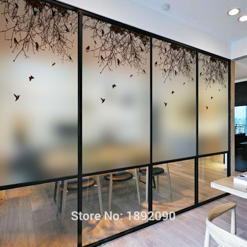 Free Size Customized Glass Window Film Stained Window Films Sliding