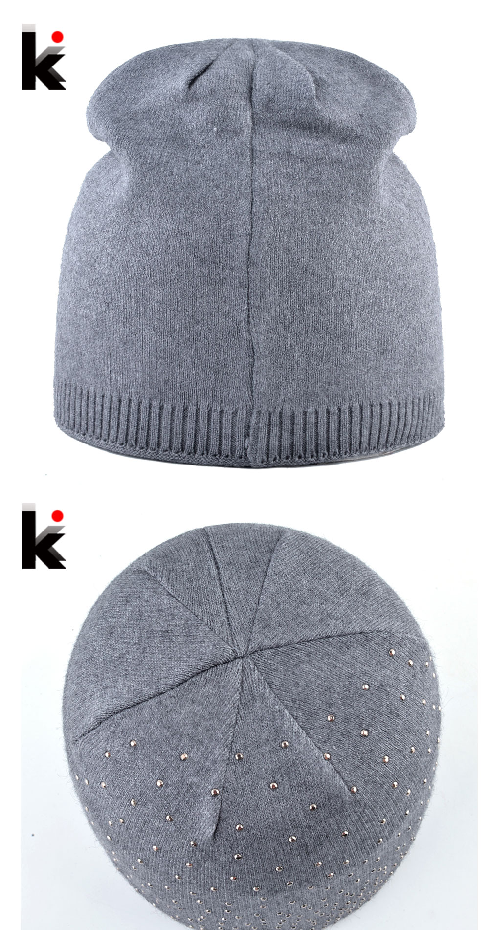 6d92ebb3896 Knitted Winter Beanies Women Shinning Rhinestone Hats Autumn Knitting Skullies  Beanies Ladies Soft Warm Bonnet Caps Female Gorro