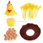 Chicken Don't Drop Egg Game Kid Children Exciting Fun Pull Out Feathers Toy Gift -B116