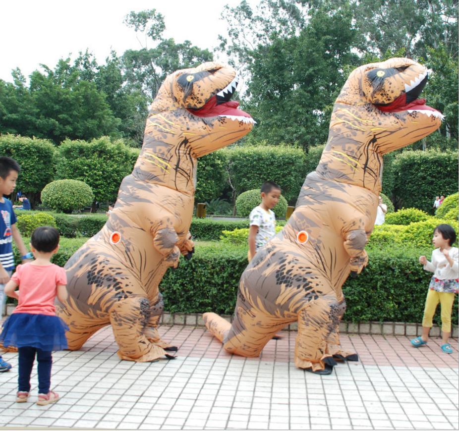 Adult T-REX Inflatable Costume Christmas Cosplay Dinosaur Animal Jumpsuit Halloween Costume for Women Men