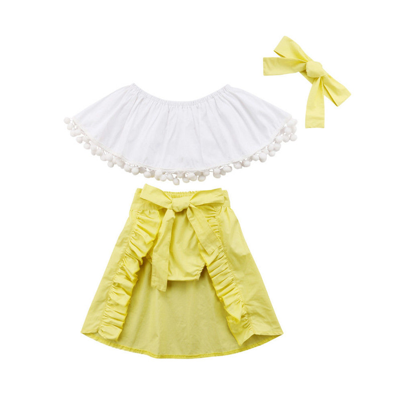 d7afd6a6e17 2PCS Toddler Baby Girls Princess Dress Outfits Lace Off Shoulder Ruffle  Sleeveless Tube Top Novelty   More Red Maxi ...