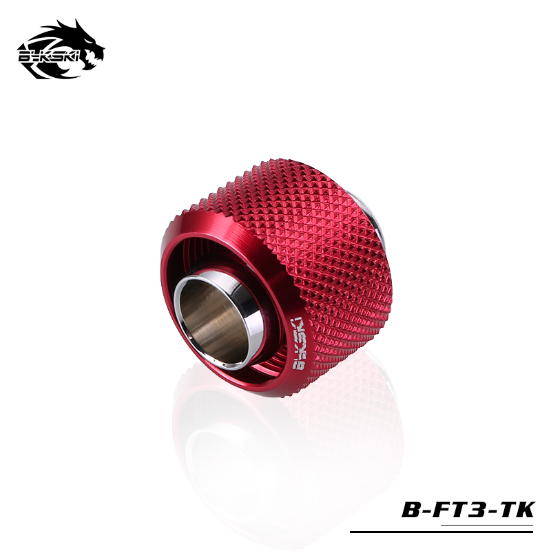 BYKSKI Use for Inside Diameter 10mm + Outside Diameter 16mm Pipes 3/8''ID + 5/8OD Soft Tube Fitting Hand Connector Fitting G1/4 barrow white black red g1 4 3 8od x 5 8od 10 x 16mm tubing hand compression fittings water cooling fitting