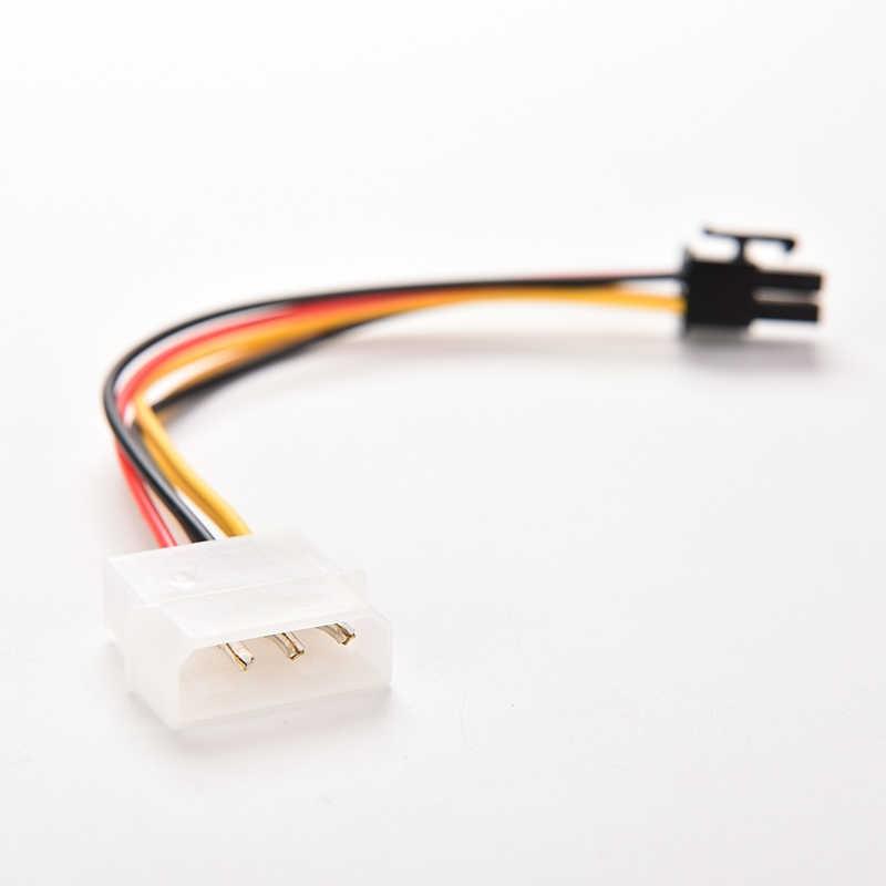 4 Pin Molex IDE do 6 Pin PCI-E zasilacz karty graficznej adapter do kabla PC wideo wejście na kartę kabel konwertera przewód 17 cm
