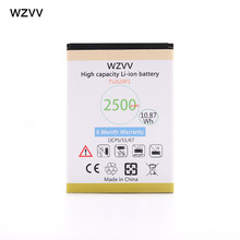 wzvv 2500mAh Battery TLi020F1 for Alcatel One Touch Pop 2 5042d C7 7040 OT-7040 OT-7040D 5010D OT5010 OT5010D + Tracking Code(China)