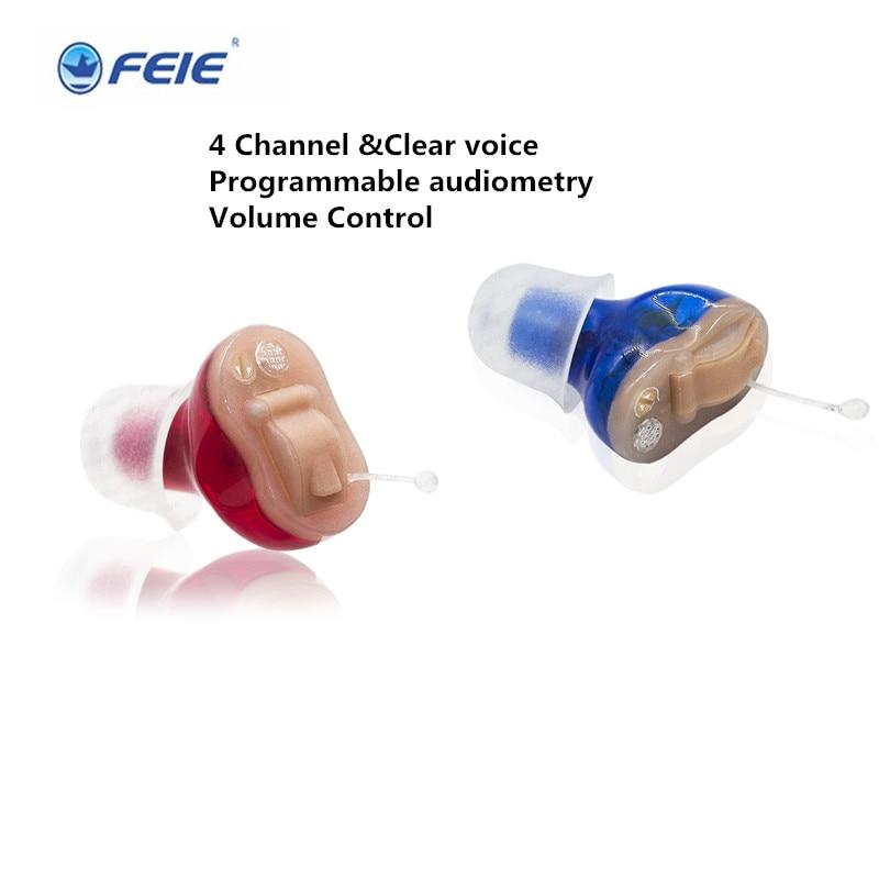 все цены на 2pcs (a lot ) feie s-13a left ear cheap mini hearing aids audiometry apparatus Programmable Volume Control Drop Shipping