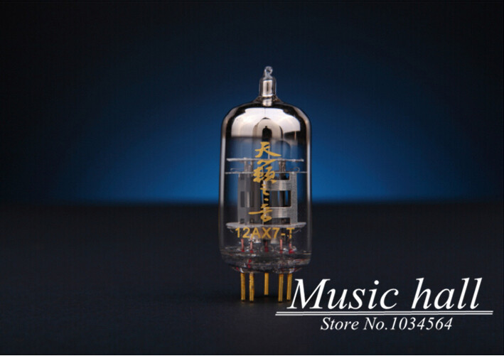 Douk Auido Shuguang Natural Sound 12AX7-T Audio Vacuum Tube valve with gold pins 1PCS for tube amplifier Free shipping audio valve baldur 70 silver gold