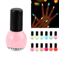 Women girl Fluorescent 12 color Non-toxic Nail Polish Varnish Lacquer cool