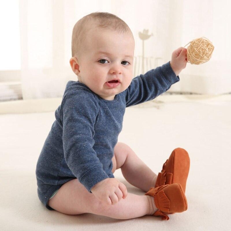 Baby Mokassins PU Wildleder Newborn Marke Baby Schuhe Mokassins Bebe - Babyschuhe - Foto 4