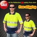 CE EN471 ANSI/SEA 107 AS/NZS camisa refletivo de segurança De Alta visibilidade vestuário de dois tons 3 M polo camisa camisa roupas 3 M segurança