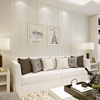 3D Simple And Modern Green Striped Wall Paper Bedroom Living Room Full Of Environmental Protection Non