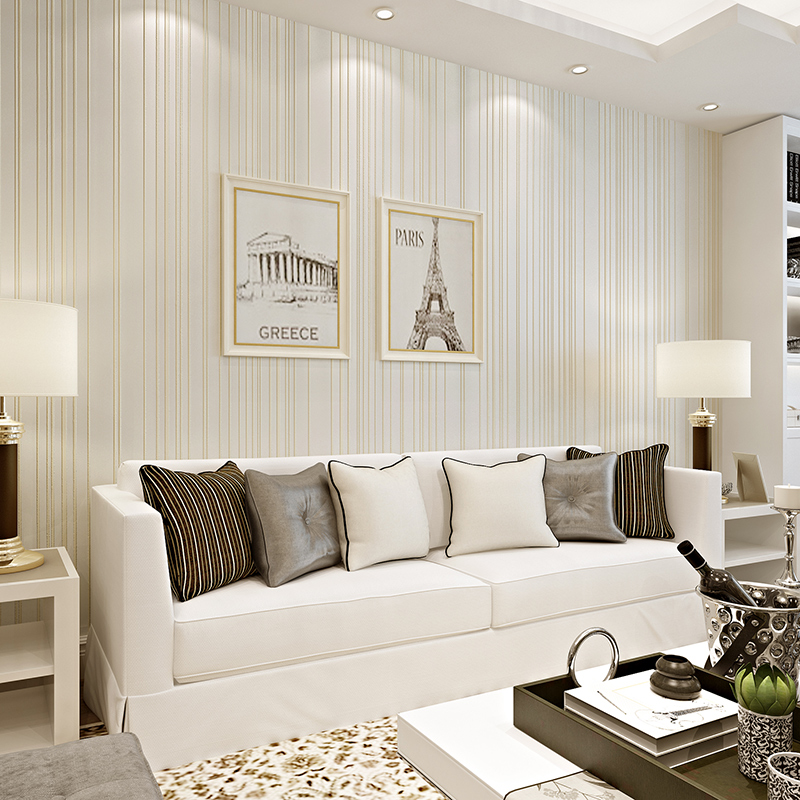 beibehang simple and modern green striped wall paper bedroom living room full of environmental protection non - woven wallpaper akl awwad and nida salem green synthesis of magnetite and silver nanoparticles