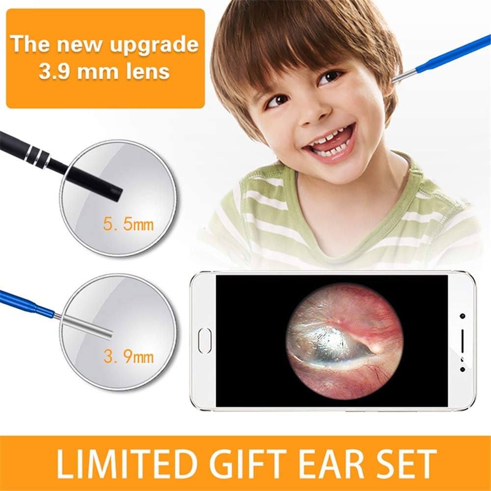 Image 4 - 3.9 ミリメートル子耳の耳鏡で 3 1 耳掃除 6 調節可能な内視鏡耳スコープ検査カメラの Led PC USB C アンドロイド監視カメラ   -