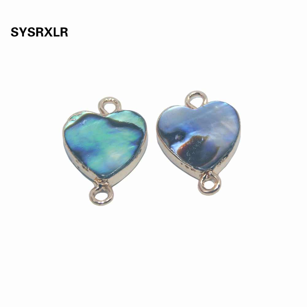 Fashion Natural Mother Of Pearl Abalone Shell Heart Shaped Pendant For Jewelry Findings Making DIY Bracelet Necklace Earrings in Charms from Jewelry Accessories