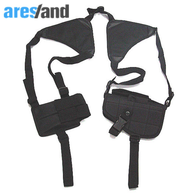 Anti Theft Hidden Underarm Bag Harness Phone Gun Dual Shoulder Holster Armpit For