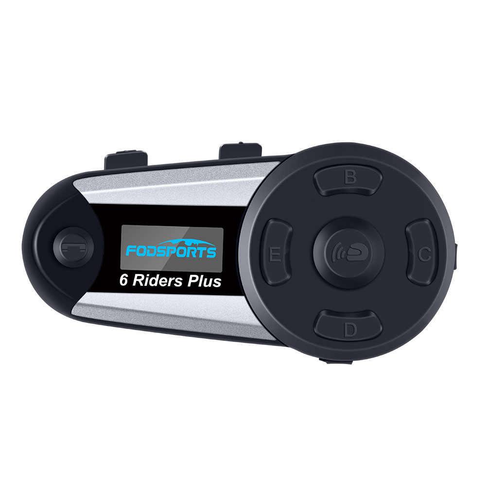 1 pièces V6 Plus 6 coureurs 1200m Bluetooth interphone casque sans fil avec crochet d'oreille écouteur costume pour Football arbitre juge Biker