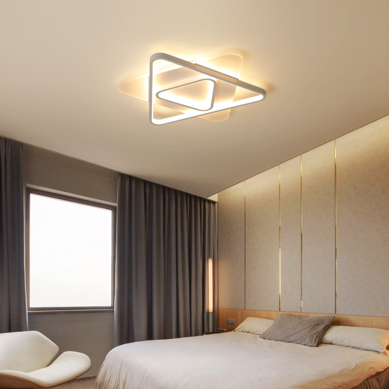 modern round metal led ceiling lights For Bedroom master bedroom guest room study children's room remote control ceiling lamp