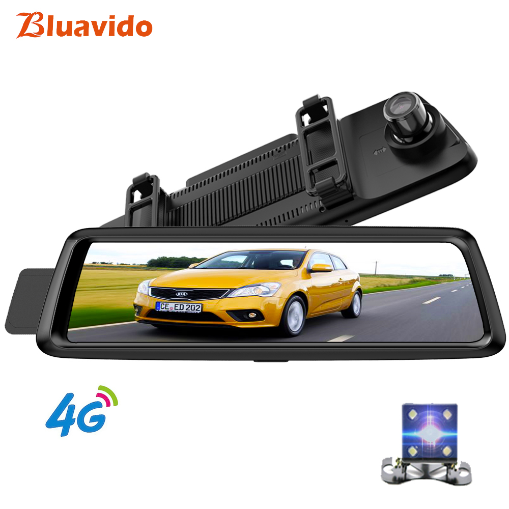 Bluavido 10 ips полный зеркальный Автомобильный dvr 4G Android gps навигация ADAS HD 1080 P зеркало заднего вида Камара автомобильный видео регистратор Регист...