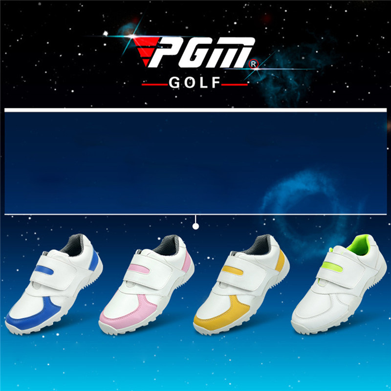 PGM Golf Shoes For Boys and Girls Leather Anti-skid Anti-wear Breathable Unisex Outdoor Sport Shoes Waterproof Sneakers For Kids 2016 spring child sport shoes leather boys shoes girls wear resistant casual shoes