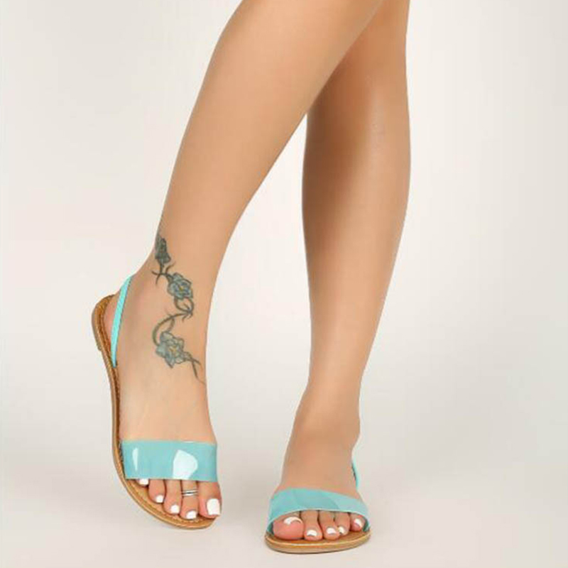 Woman Summer Sandals Transparent Jelly Shoes Soft Female Elastic Band Slippers Open Toe Women Outdoor Beach Ladies Shoes in Women 39 s Sandals from Shoes