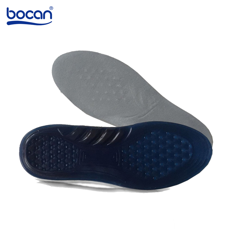 Bocan Gel Insoles Shoe Insoles Gel shock absorption Elasticity insole Orthopedic insoles for men/women expfoot orthotic arch support shoe pad orthopedic insoles pu insoles for shoes breathable foot pads massage sport insole 045