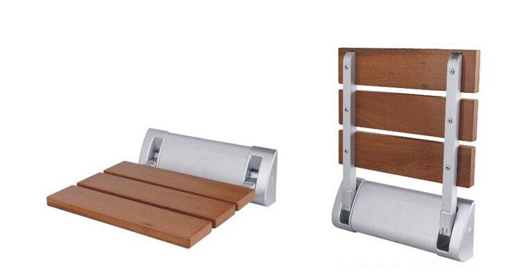 Sedile Doccia Legno : Moderno in legno di teak pieghevole sedile per doccia fissato al