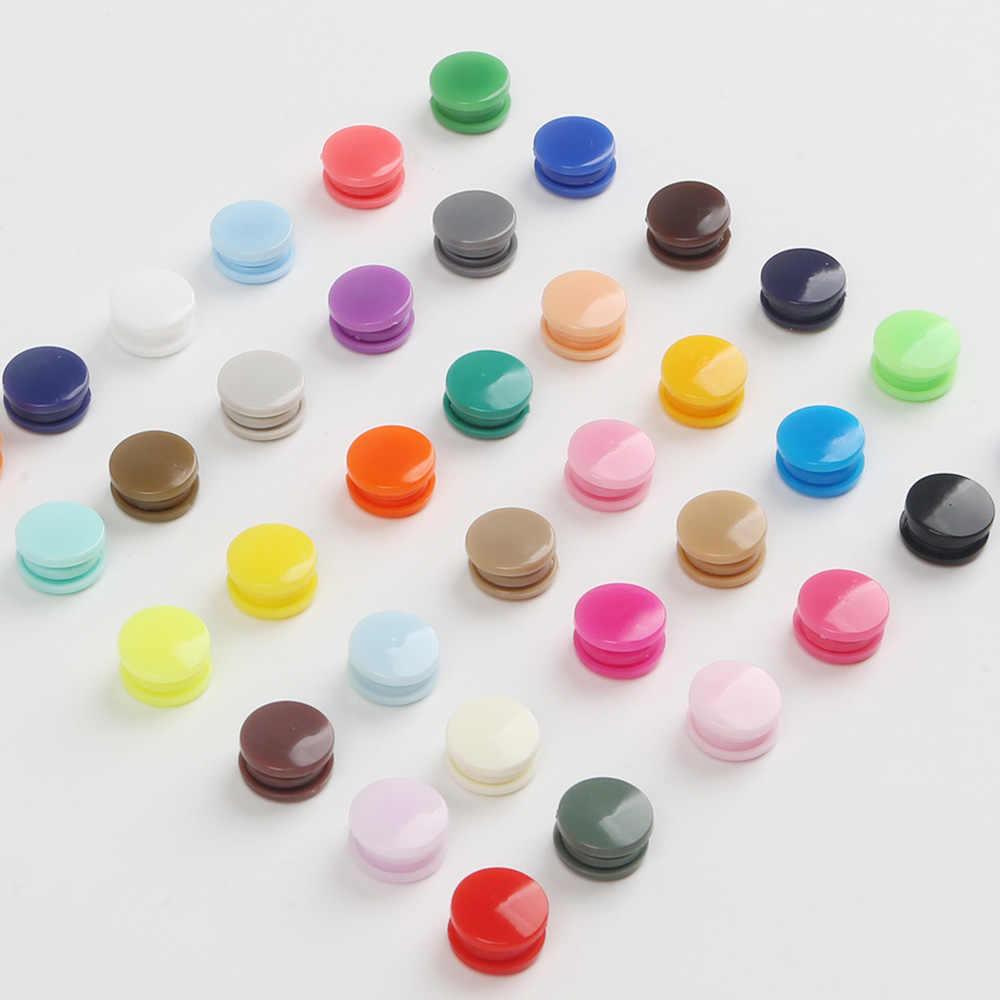 KAM T5 plastikowe zatrzaski przycisk łączniki 20/50/100/150 zestawy torba Folder ciemna klamra przycisk żywiczne dodatki do odzieży na ubrania dla dzieci