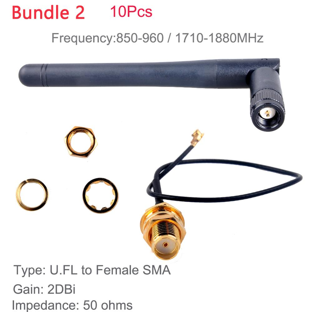 2pcs 2dbi antenna SMA Female to IPEX1.13 Bluetooth wifi Omni-Directional antenna