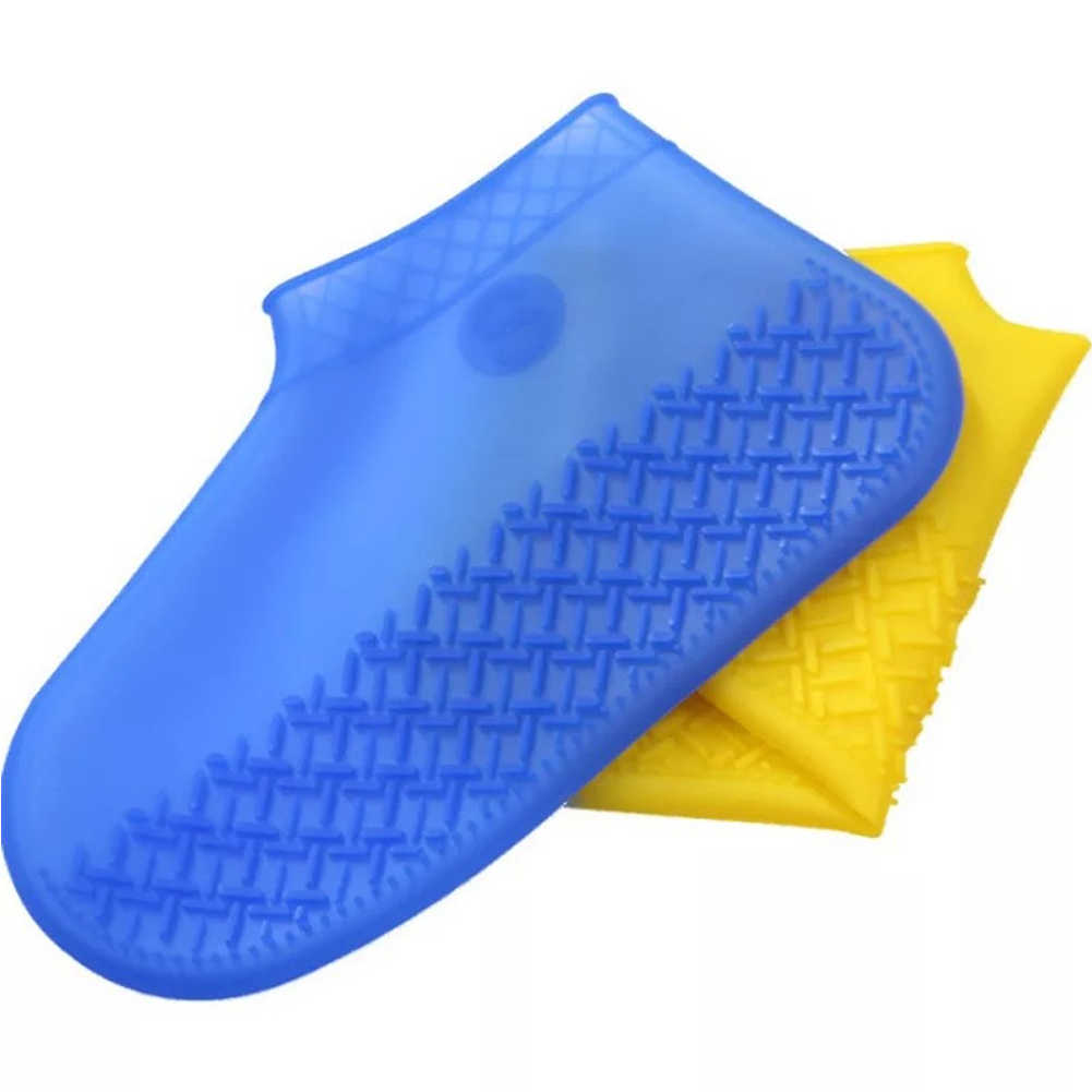 Erkekler Kadınlar Kaymaz ayakkabı Kullanımlık yağmur çizmeleri Seyahat Silikon Su Geçirmez Açık Kalınlaşma Elastik Ayakkabı Kapağı 1 Çift
