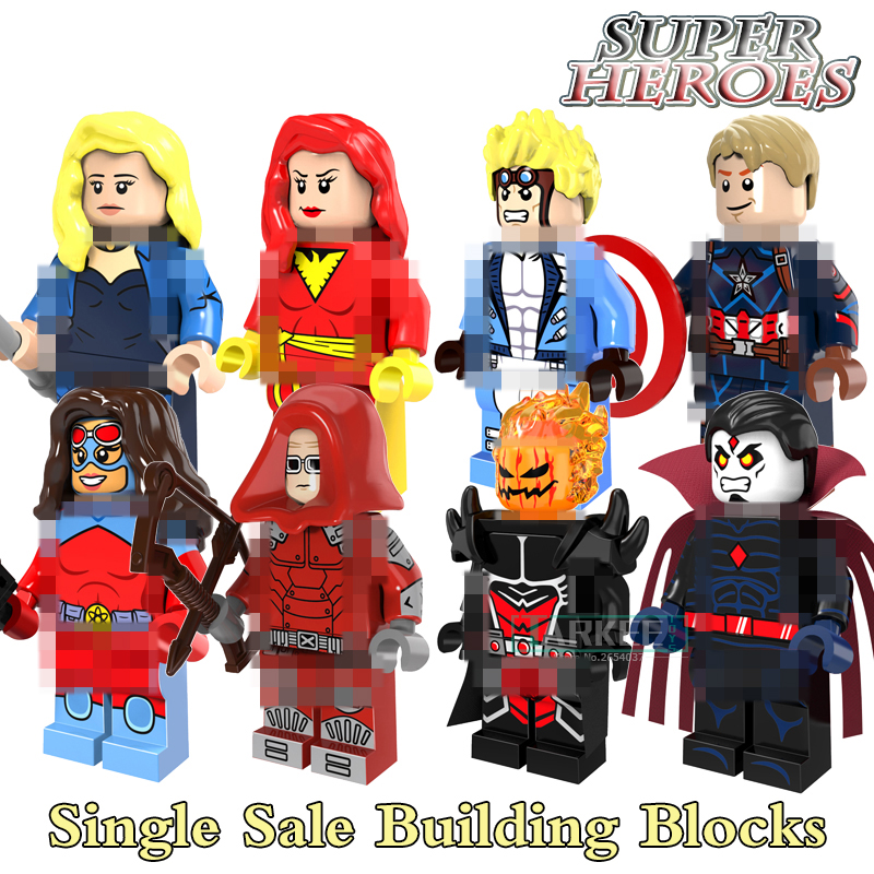 Building Blocks Bricks Dormammu Mister Sinister Cannonball Dark Phoenix Captain America Super Hero Figures Kids DIY Toys PG8059 ...