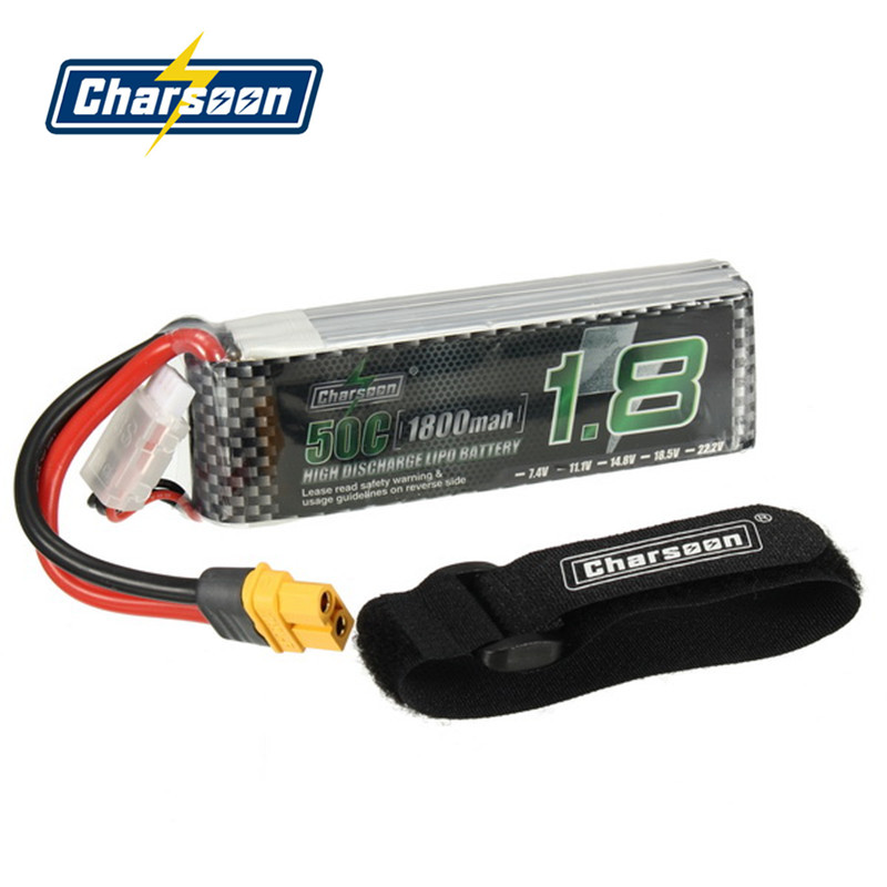 Best Deal Rechargeable Charsoon 11.1V 1800mAh 50C 3S Lipo Battery XT60 Plug With Strap клей активатор для ремонта шин done deal dd 0365