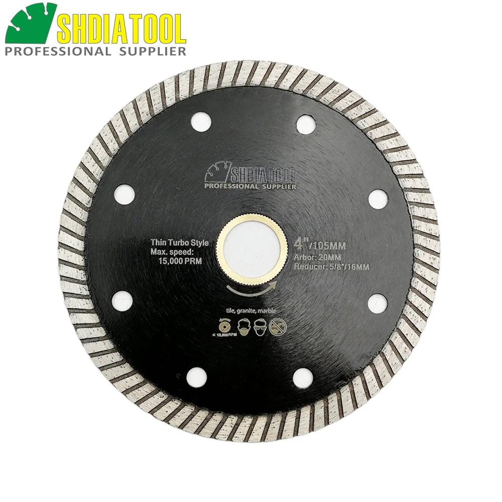SHDIATOOL Diamond Hot Pressed Superthin Diamond Turbo Blade  Ceramic Tile Granite Cutting Disc Diamond Blade 4