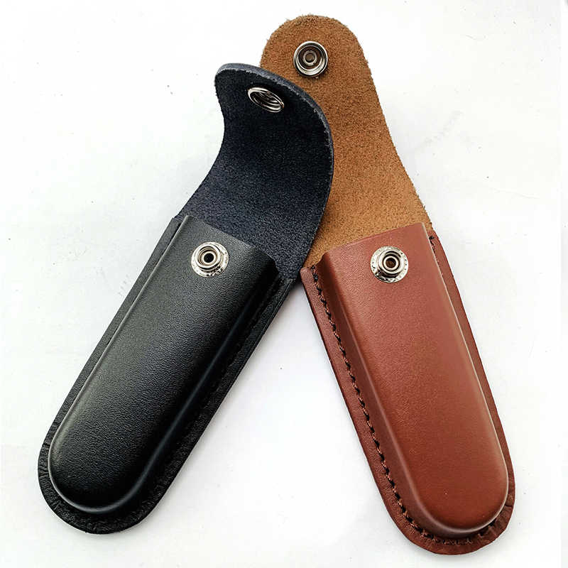 Folding knife cowhide case Folding pliers lighter First layer cowhide cover