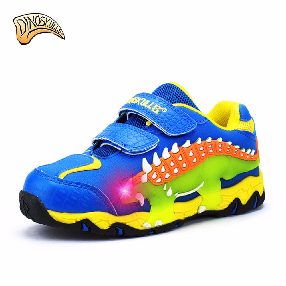 Winter Kids Shoes Fur Lining Children Casual Shoes Boys Sneakers Running Sports Shoes 3D dinosaur sneakers tenis infantil 27-34 2016 new shoes for children breathable children boy shoes casual running kids sneakers mesh boys sport shoes kids sneakers