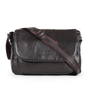Image 5 - GOLD CORAL Women Handbag Genuine Leather Bags Female Messenger Bag Vintage Ladies Crossbody Shoulder Bags Sac a main 2018 New