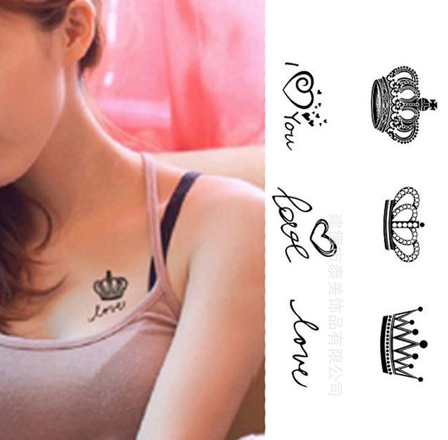 Vente chaude Nouveau Design De Mode Glitter Autocollant de Tatouage Temporaire Imperméable À L'eau De Tatouage Body Art Peinture Drop Shipping HB-0003
