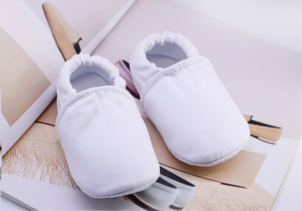 Newborns Baby Shoes White Cotton Infant Boys First Walkers Soft Toddler Shoes Cute Crib Shoes Footwear For Kid Girls