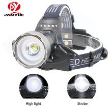 PANYUE 2018 New Product High Powerful 10W 2000 lumen XM-L2 LED USB Camping Torch 18650 Powered Light Sensor Headlamp