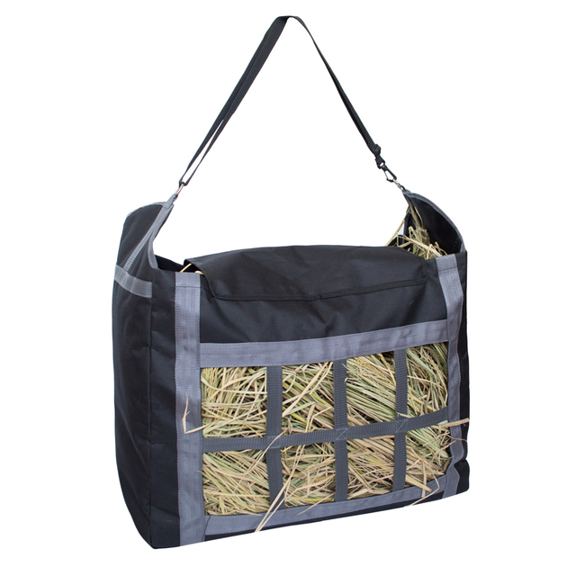 Slow Feed Hay Net Bag With Adjule Carry Strap For Horses