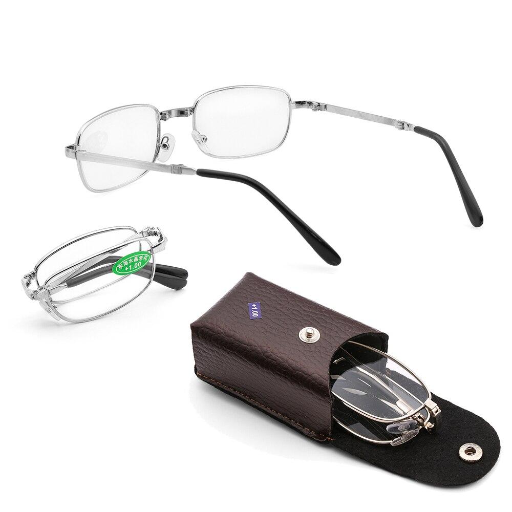 + 1,0 ~ 4,0 Dioptrien Neue Ältere Lesebrille Mit Box Bifokale Ultraleicht Vision Care Klapp Vergrößerungs Unisex Randlose Brillen