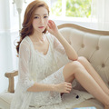 Angleball Han Guochun summer lady modal cotton lace two piece set Sexy Princess Nightgown Pajamas