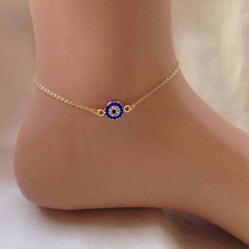 ผู้หญิงง่าย Punk เงินทองโซ่แบนงูสร้อยข้อเท้าสร้อยข้อเท้ารองเท้าแตะ Sandal Beach Foot Jewelry