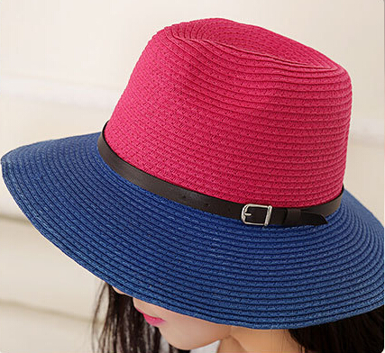 6b834809017404 Wholesale NEW 2018 Fashion Block Colors Paper Fedora Hats Women Summer  Trilby Hat Ladies Sun Fedoras Cap Womens Trilbys Caps-in Fedoras from  Apparel ...