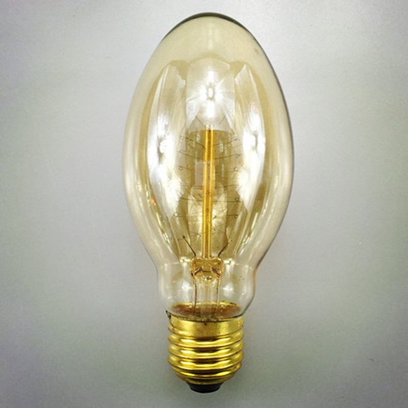 Retro BT58 Bullet Edison light E27 40W 110V/220V Village filament Edison Bulb for Coffee Bar/Clothes Shop/Bedroom