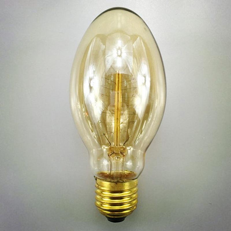 Retro BT58 bala Edison luz E27 40 W 110 V/220 V pueblo de filamento de Edison bombilla para café Bar /tienda de ropa/dormitorio Bombillas Edison clásicas bombilla de luz con filamento LED E27 4W 220V 240V bombilla incandescente Retro cálida bombilla Edison para lámpara colgante