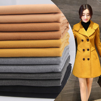 Fashion Woolen Fabrics Autumn Winter Thicker Solid Coat Coat Imitation Wool Double Sided Cashmere Cloth Polyester1